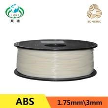 Бесплатная доставка 3D-принтеры накаливания ABS/PLA 1.75 мм Материал 1 кг Пластик резиновая расходных материалов Материал для принтера