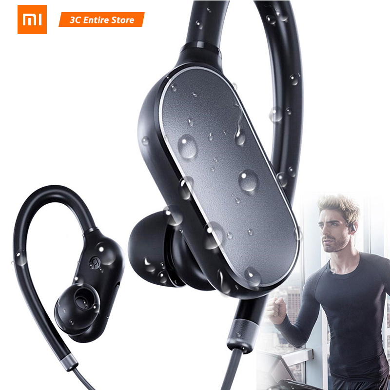 Xiaomi Mi Sports Bluetooth Headset Bluetooth 4.1 Original Music Sports arbuds Mic IPX4 Waterproof Wireless Earphones Headphones original f5 sports bluetooth headset sd card slot auriculares music headphones mic ipx4 wireless earphones fm radio mp3 player