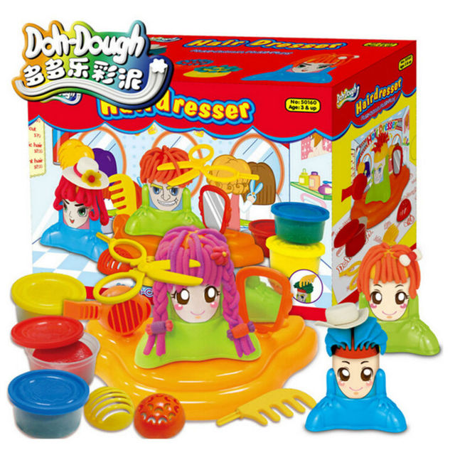 New Style Hair Dresser Model Plasticine Play Doh Educational Toys for Children's  Gift,Creative DIY Playdough with Tool