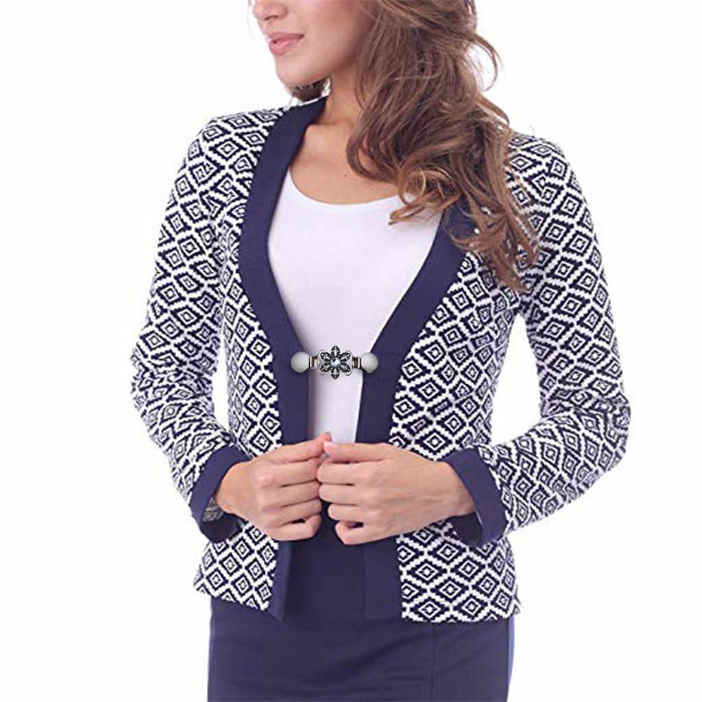 1 Pcs Kemeja Kerah Retro Bunga Klip Gesper Wanita Cardigan Sweater Blus Selendang Klip Pesona Bros Aksesoris Blus Pin