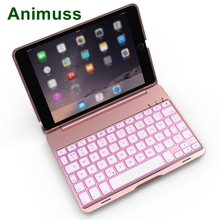 For  iPad Mini Wireless Keyboard Case, 7 Colors LED Backlight/Smart Sleep&Awake/Stand Folio Cover 1/2/3 7.9 inch Table