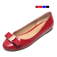 Women Flats 2016 Summer Flat Shoes Women Bowtie Slip On Women's Wedding Shoes Ladies patient Leather Shoes Woman Zapatos Mujer