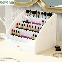 2019 NEW Five layer Wood Drawers Storage Box Makeup Brush Lipstick Organizer Holder Jewelry Container Case Cosmetic Office Boxes