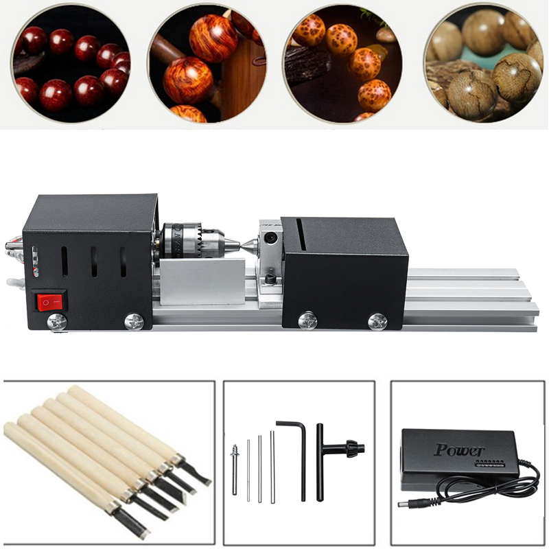 100W Mini Lathe Beads Machine Polisher Table Saw Multi Functional DIY Lathe Machine Buddha Pearl Polishing Beads Wood Working цены