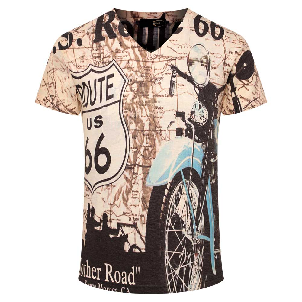 Newspaper patchwork print t shirt men brand clothing homme for Print photo on shirt