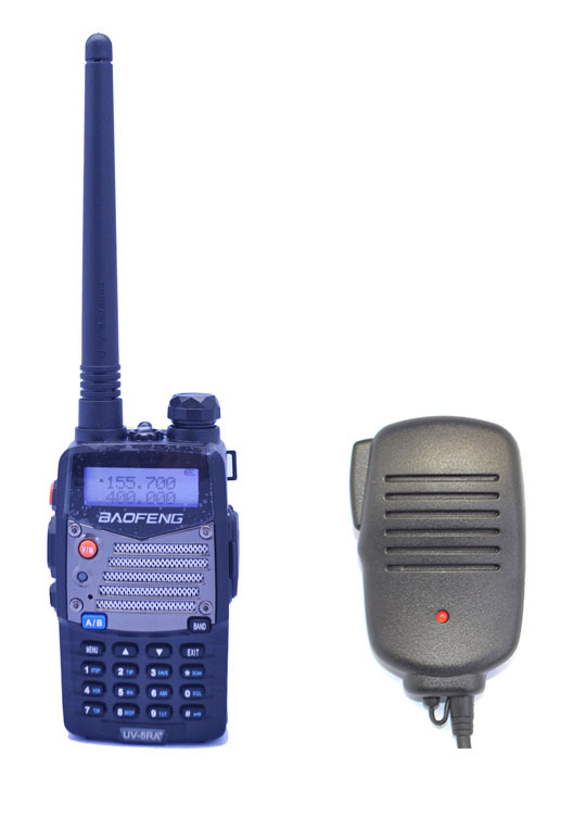 BAOFENG UV-5RA+PLUS VHF/UHF Dual Band Walkie Talkie + Speaker Mic Handy Hunting Radio Receiver With Headfone