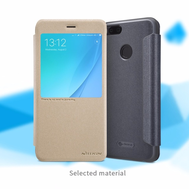 finest selection 5997a f815e US $9.89 |cover for xiaomi mi a1 case NILLKIN Sparkle PU leather flip cover  smart view window PC back cover for xiaomi mi a1 case 5.5''-in Flip Cases  ...