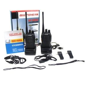 Image 5 - 2Pcs Baofeng 888S BF 888S Walkie Talkie 5W Handheld Portable Two Way Radio UHF 400 470 MHz 16CH CB FM Ham Radio Transceiver