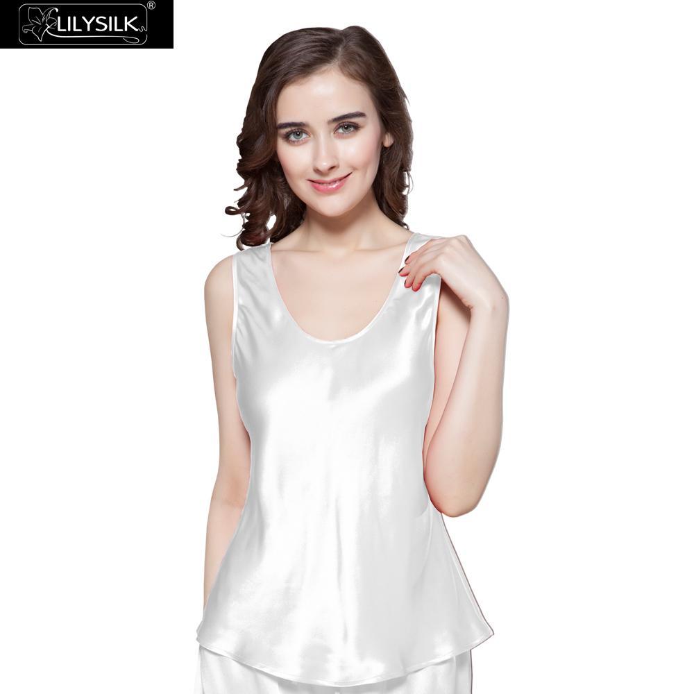 Lilysilk Silk Camisole Tops Free Scoop Natural Silk Women Sleep Luxury Pure  Soft Solid 22 Momme Summer 2017 20686b936