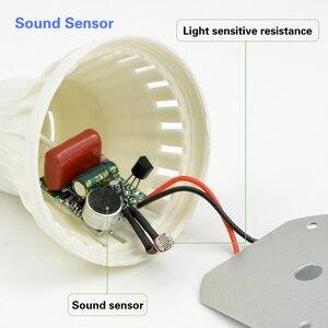 Image 4 - Smart Sound/ PIR détecteur de mouvement LED lampe lumière 3W 5W 7W 9W 12W E27 220V Induction ampoule escalier couloir veilleuse couleur blanche
