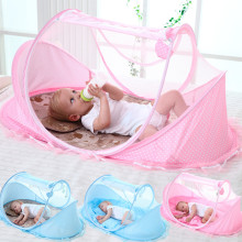 0-3 Years Free Installation Folding Baby Mosquito Nets Yurt Baby Cover Infant Crib Nets Bracket Bottom Cover