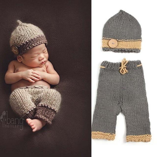 Muchachos Classic Crochet patrón de punto hechos a mano Beanie Hat y ...