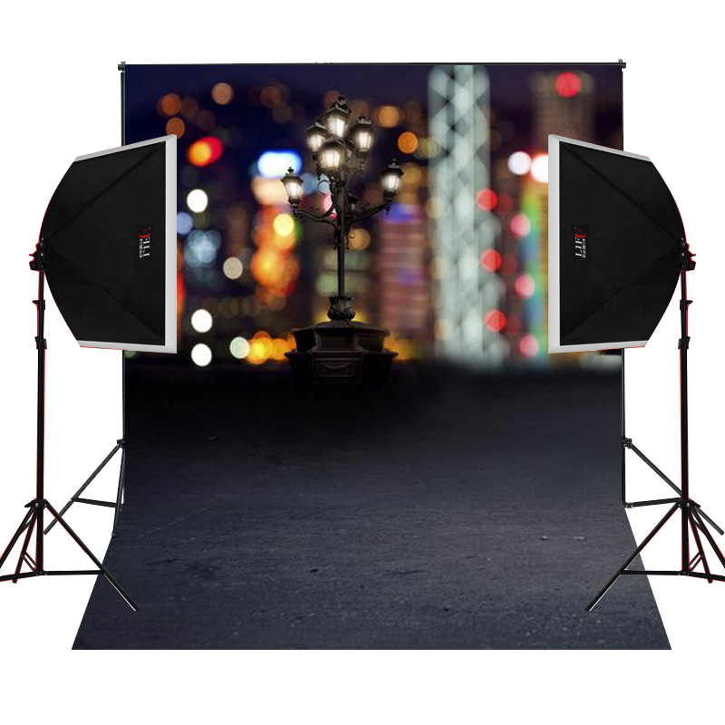 Black floor lamp scenic for photos camera fotografica studio vinyl photography background backdrop cloth digital props