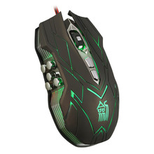 SimpleStone 10D 4000DPI Optical LED Wired Gaming Mouse For DotA FPS Laptop PC 60317