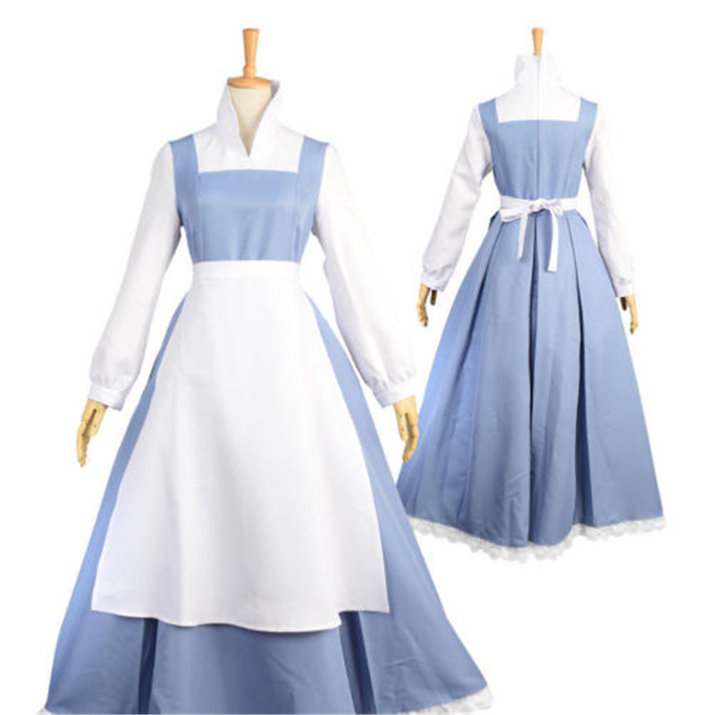 US SHIPPING Belle Maid Dress Adult from Beauty and the Beast belle maid costume