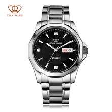 Аутентичные Ван Тянь Бренд наручные часы класса Люкс двойной календарь полностью автоматические механические мужские часы СС браслет твердые gs5705s/dd