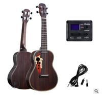 New grape hole 23 inch full rosewood ukulele EQ box carbon string small guitar beginner practice free shipping