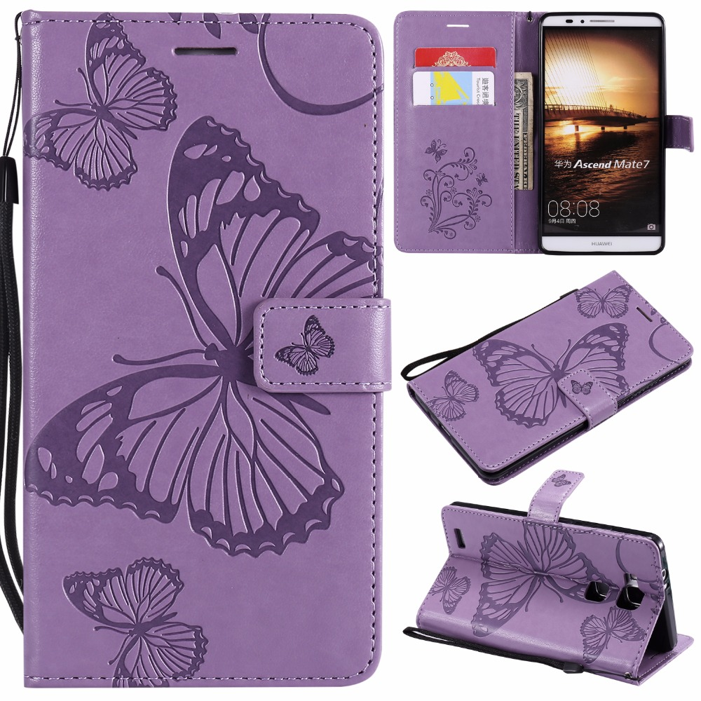 3d butterfly embossed leather cases For Huawei P8 P9 Lite Y6 II 2 Honor 5A Enjoy 5 Mate 7 8 9 P20 Flip Wallet Case Stand Cover in Wallet Cases from Cellphones Telecommunications