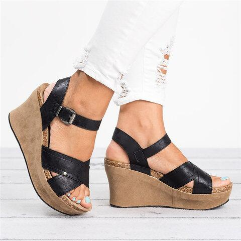 Envío Cuñas Chaussures Mujer Directo Shujin Sandalias Zapatos deWCxrBo
