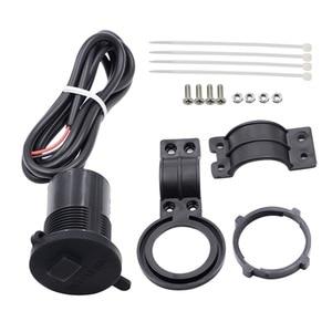 Image 5 - 4 colores DC12V 24V enchufe USB resistente al agua con interruptor para moto de nieve ATV cargador de coche enchufe de la cubierta del USB