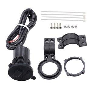 Image 5 - 4 kleuren DC12V 24V Waterdichte USB Plug met Schakelaar Voor Motorfiets Sneeuwscooter ATV Car Charger Socket USB Cover Plug