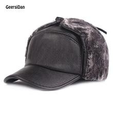 GEERSIDAN Winter Unisex Bomber Hat For Men Earmuffs Cap Earf