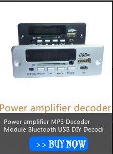 Iluminação azul Bordo decodificador MP3 cartão TF