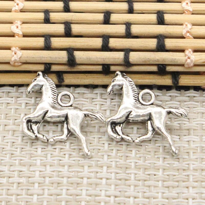 10pcs Charms running horse 22*15mm Tibetan Silver Plated Pendants Antique Jewelry Making DIY Handmade Craft