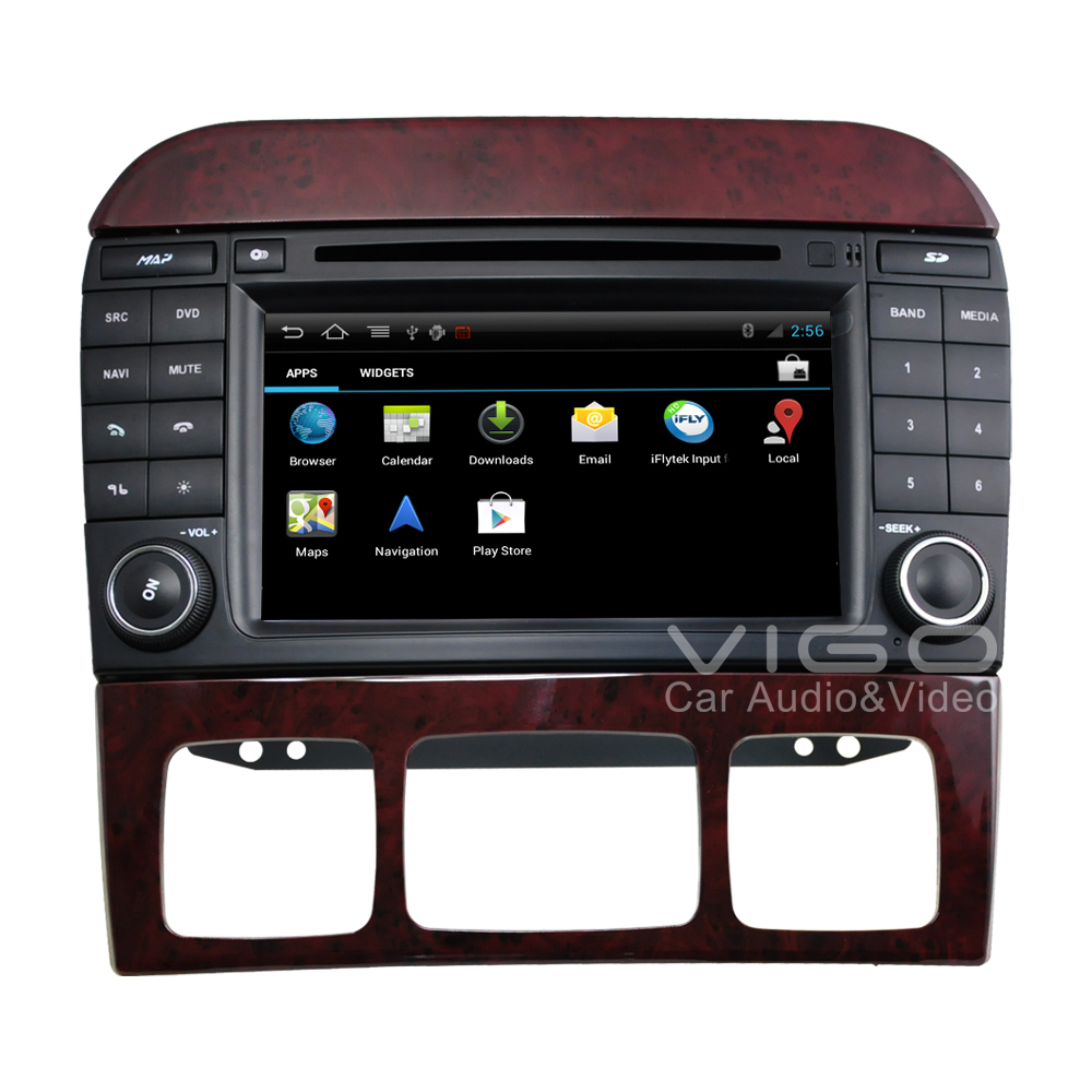 android 4 0 stereo for mercedes benz s class w220 gps. Black Bedroom Furniture Sets. Home Design Ideas
