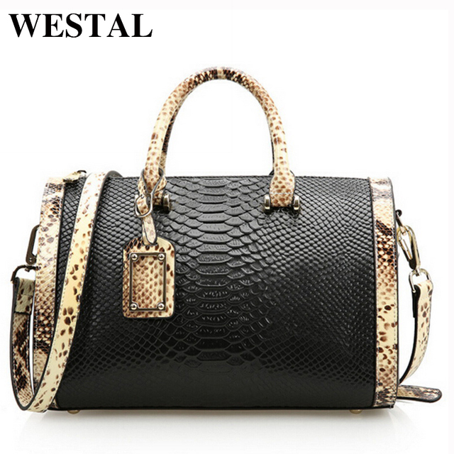WESTAL leather shoulder bags luxury handbag women leather bag designer high quality brand fashion women messenger bag tote bags