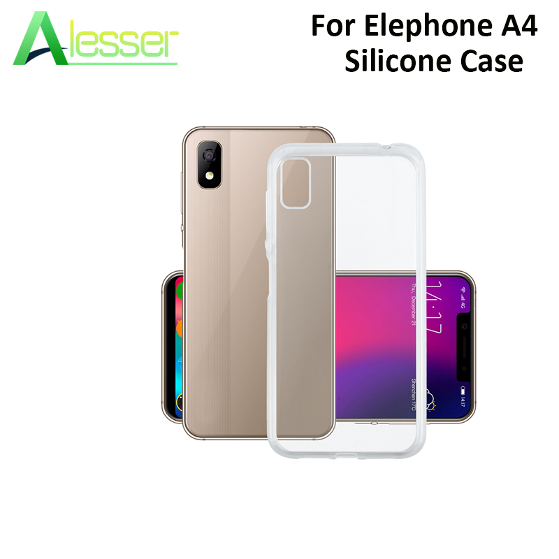 """Alesser For Elephone A4 Silicon Case Transparent Soft TPU Back Cover Smartphone Protective Case 5.85"""" For Elephone A4 Pro Case"""