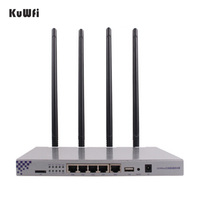 OpenWrt 802.11ac 1200Mbps Long Range Wireless AP 1W High Power Wireless Router 2.4G 5.8G Dual Band Wifi Router 4*7dBi Antennas