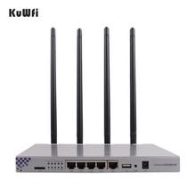 KuWFi OpenWrt 1200 150mbps ארוך טווח אלחוטי AP 1W מתח גבוה נתב אלחוטי 2.4G 5.8G Dual Band wifi נתב 4 * 7dBi אנטנות