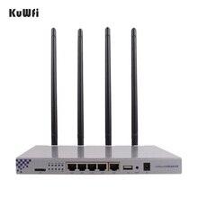 Kuwfi openwrt 1200 150mbps のロングレンジワイヤレス ap 1 ワットハイパワー無線ルータ 2.4 グラム 5.8 グラムデュアルバンド無線 lan ルータ 4 * 7dBi アンテナ