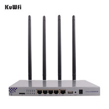 KuWFi OpenWrt 1200Mbps Long Range Wireless AP 1W Ad Alta Potenza Router Wireless 2.4G 5.8G Dual Band wifi Router 4 * 7dBi Antenne(China)