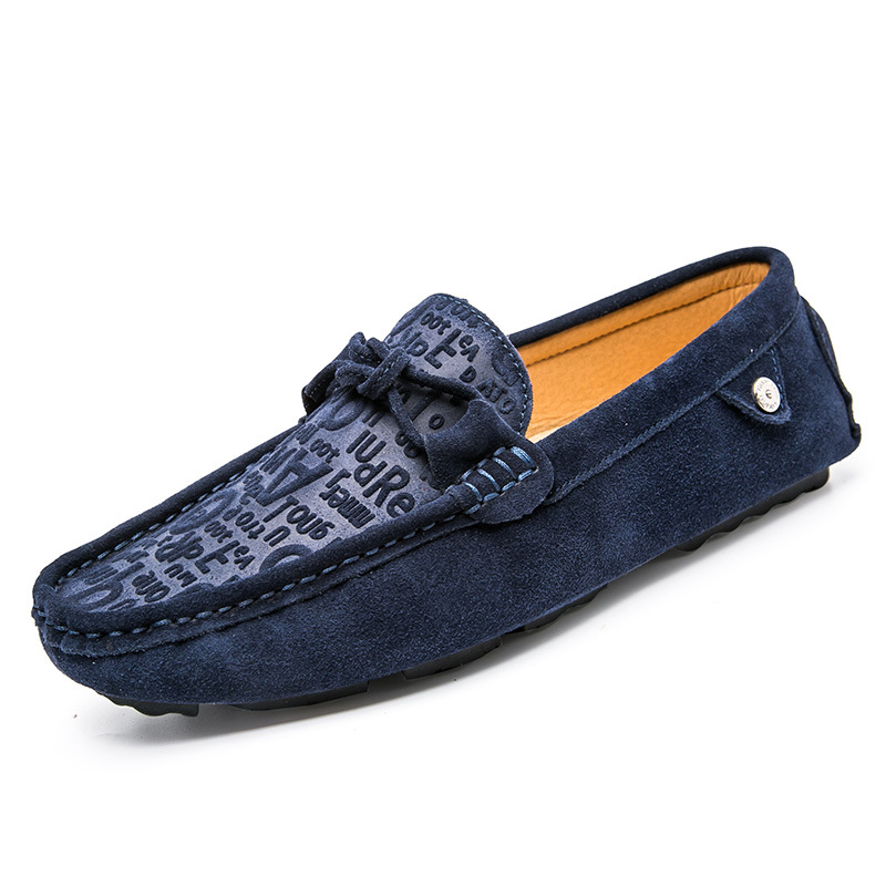 Men's 100% Genuine Suede Leather Driving Shoes,New Moccasins Slip On Handmade Shoes,Brand Design Flats Loafers For Men NXZP-98 handmade genuine leather men s flats casual haap sun brand men loafers comfortable soft driving shoes slip on leather moccasins