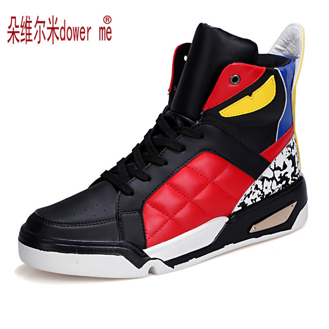 2016 Autumn And Winter Fashion Men Casual Shoes Hip Hop Leather High-top Outdoor Shoes trainers Zapatos Hombre SIZE: 37-45