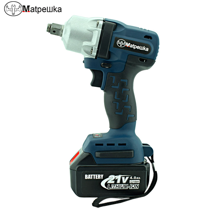 21V Brushless/ Cordless Electric Wrench Impact Socket Wrench 4.0Ah Li Battery Hand Drill Installation Power Tools цена