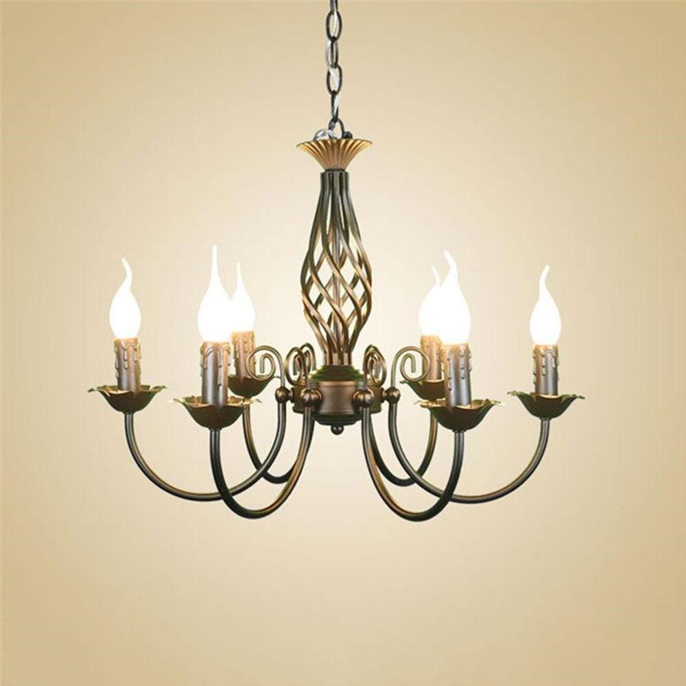 barato hierro forjado lmparas colgantes para comedor chandelier light fixture negro prrafo quarto abajur luminaria decoracin