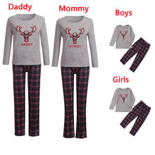 Men Daddy Baby Boys Plaid Tops Pants Family Pajamas Sleepwear Matching Christmas Sets Hot Sale(China)
