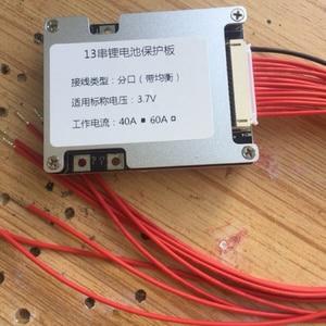 Image 2 - 10S 13S 36V 48V 40A 60A Pin Lithium Ban Bảo Vệ Xe Đạp Điện Ebike với Cân Bằng cân bằng li ion 3.7V BMS Tế Bào