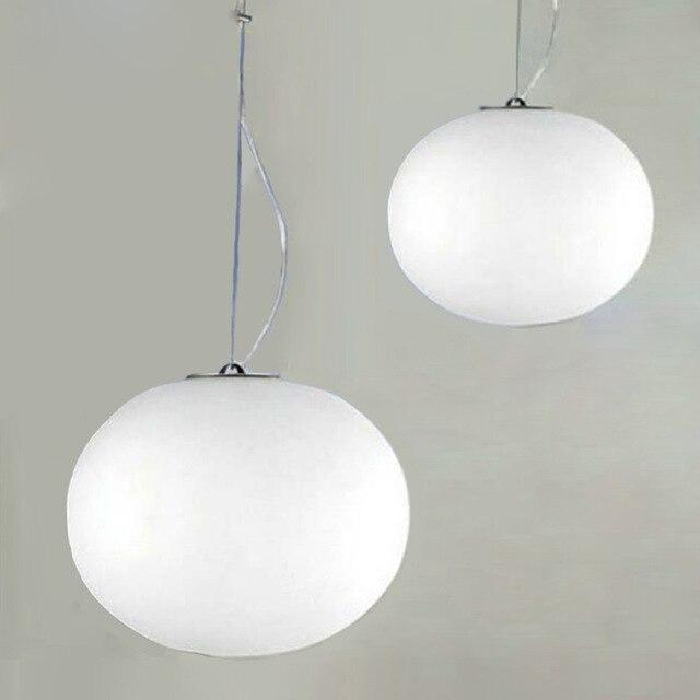 Modern  Milk White Glass Ball Pendant Lamps Restaurant/Bar Lamp Diameter 18/24/33/45cm XUYIMING