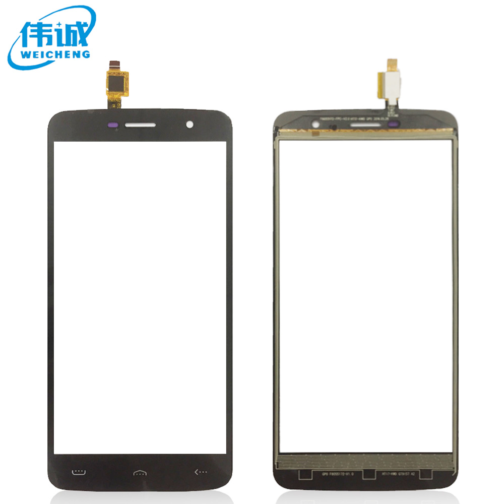 WEICHENG 5.5 inch Top Quality For <font><b>HOMTOM</b></font> <font><b>HT17</b></font> <font><b>Touch</b></font> <font><b>Screen</b></font> Glass New Glass Panel +tools+ Adhesive image