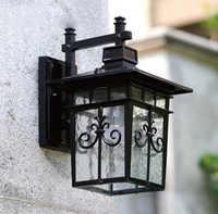 Высокая-конец сад наружного освещения настенные светильники led открытый настенный светильник содержит светодиодные лампы Бесплатная дост...
