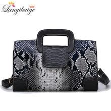 Klassische Damen Handtasche Schlange Druck Hohe Qualität Leder Damen Umhängetasche 2019 Luxuriöse Marke Frauen Schulter Tasche Tote