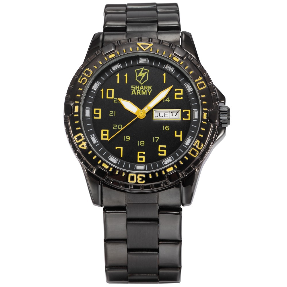 Shark Army Quartz Top Brand Analog Military male Watches Stainless Steel Strap Men Sports Army Watch Relogio Masculino/ SAW092 top brand luxury multifunction waterproof sports watches men quartz watch male stainless steel army military wrist watch relogio
