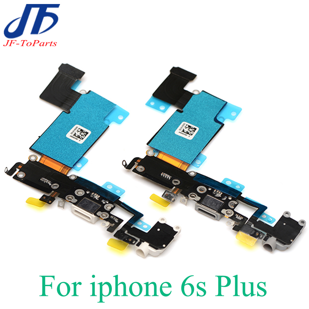 10pcs Grey White Headphone Audio Jack USB Dock Charger Charging port Connector Flex Cable for iPhone 6s plus 5.5