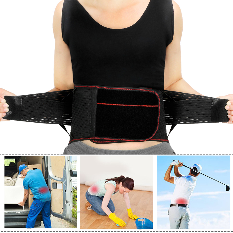 Tcare Lumbar Lower Back Waist Brace Support Belt Stabilizing Lumbar, Protects & Relieves Lower Back Waist Pain for Men Women