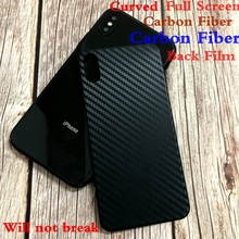 Xwmkai Full Cover Back Film For Apple Iphone X Xr Xsmax Curved Carbon Fiber Black Back Screen Protector Film For Iphone Xr Xs X