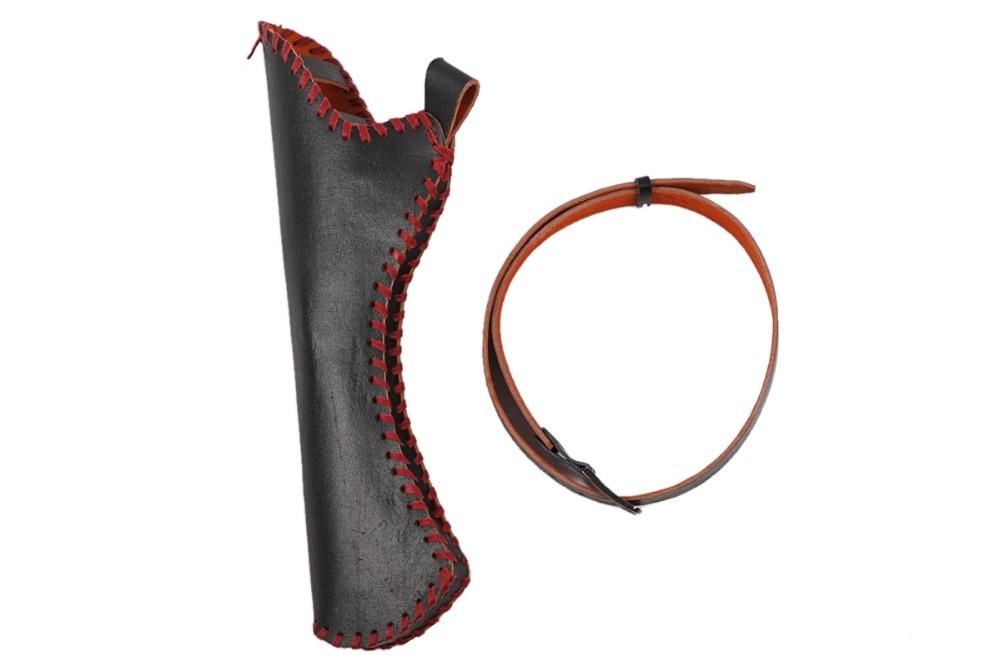 PG1ARCHERY ручной работы красный лук набор для стрельбы из лука 6 деревянный охотничий стрелки пальцев Защита руки колчан изогнутый лук - 5